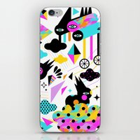 gravity iPhone & iPod Skins featuring Gravity by Muxxi