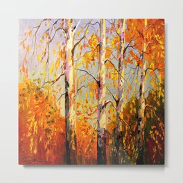 Autumn birch Metal Print