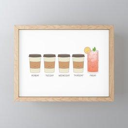 Happy friday! Framed Mini Art Print