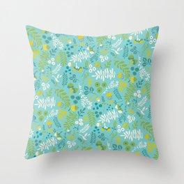 Flora- foliage Throw Pillow