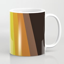 Retro Warm Tone 70's Stripes Coffee Mug