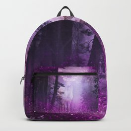 Fairy deer out of the woods mystic pink glitter forrest Backpack