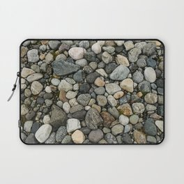Set of round gray stones called boulders. Laptop Sleeve
