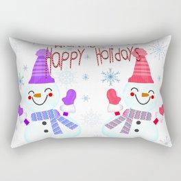 Muñecos de nieve felices Rectangular Pillow