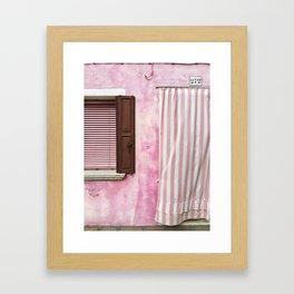 Doorway Series / Burano, Italy / 001 Framed Art Print