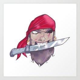 Pirate and dagger Art Print