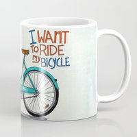 bicycle Mugs featuring Bicycle by Prince Arora