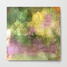 Snail trails on colorful bark Metal Print