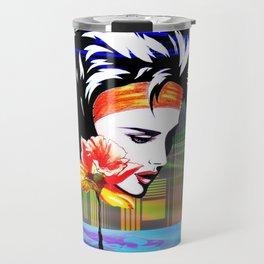 Metropolis Nostalgia Vaporwave Art Travel Mug