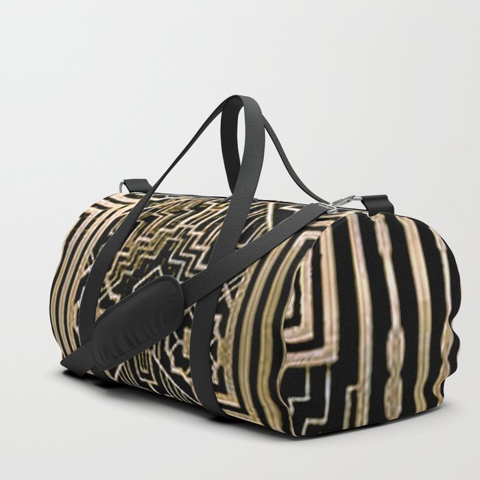 Art Nouveau Metallic design Duffle Bag