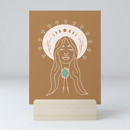 Desert Angel in Camel & Turquoise Mini Art Print