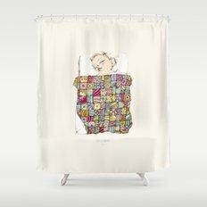 sleeping child Shower Curtain