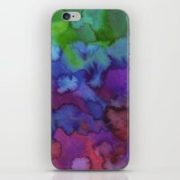 watercolour iPhone & iPod Skins featuring Watercolour by Amber Nuttall