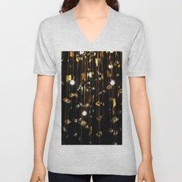 Black & Gold Unisex V-Neck