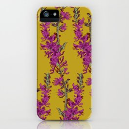 Vintage florals - Purple Loosestrife iPhone Case