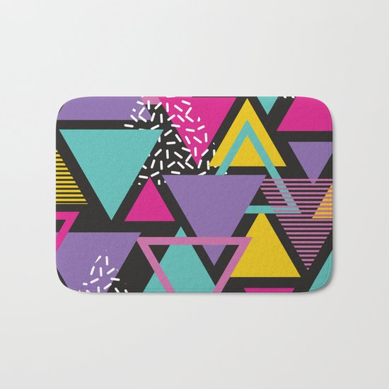Back To The 80's Pattern Bath Mat