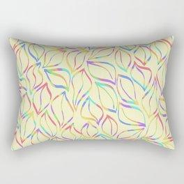 Rainbow Petals on Yellow Rectangular Pillow