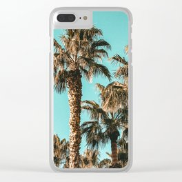 {1 of 2} Classy Palm Leaf Sky // Summer Teal Palmtree Art Print Clear iPhone Case