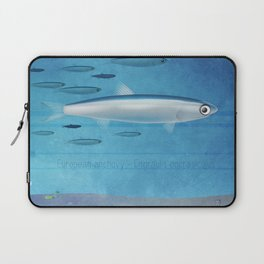 Swimming in the Med - Anchovy Laptop Sleeve