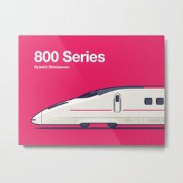 800 Series Tsubame Kyushu Shinkansen Side Profile Metal Print