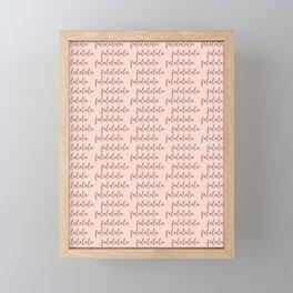 cursive falalalala 2 Framed Mini Art Print