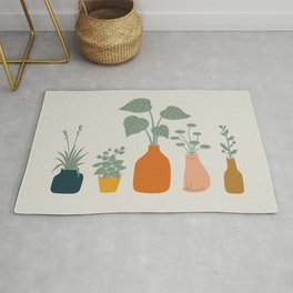 Cat and Plant 9 Rug