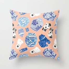 Chinoiserie Curiosity Cabinet Toss 1 Throw Pillow