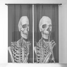 Silence please Sheer Curtain