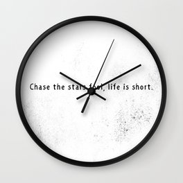 Chase the stars Wall Clock