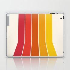 Rad - retro throwback 70s 1970s stripe beach 70's vibes minimal art Laptop & iPad Skin