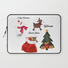 Christmas decoration two Laptop Sleeve