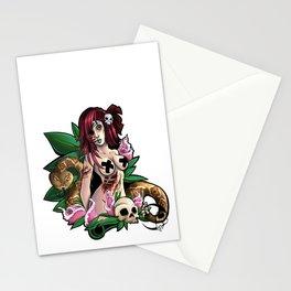 .:Zombie Girl:. Stationery Cards