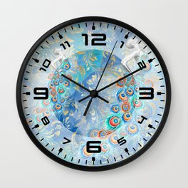 Feather peacock #17 Wall Clock