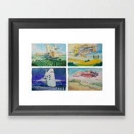 Battle Cruisers of Tuscany, quad 2 Framed Art Print