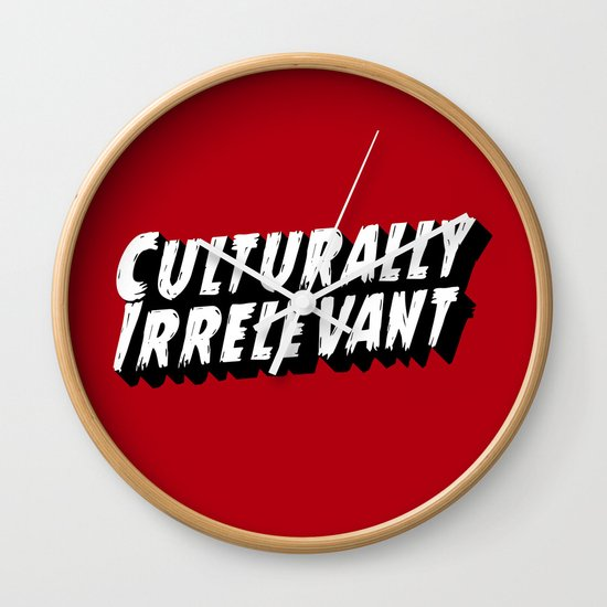 Culturally Irrelevant Fan Gear Wall Clock