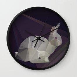 Geometric Bunny Wall Clock