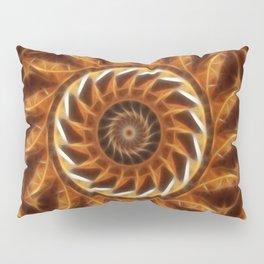 Brown Tan Gold Kaleidoscope Art 11 Pillow Sham