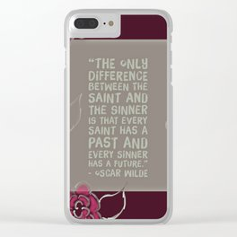 Sinners & Saints Clear iPhone Case