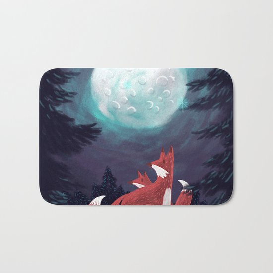 Clever Fox's Tales about the Universe Bath Mat