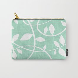 Vine pattern in Mint by Friztin Carry-All Pouch