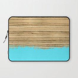 Dipped Wood - Zebrawood Laptop Sleeve
