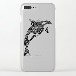 Tribal Orca Clear iPhone Case