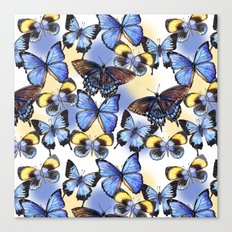 Pattern with butterflies Canvas Print