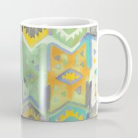 kilim Mugs featuring Kilim Me Softly in Turquoise by Bee&Lotus