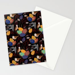 Nest of Pysanky Easter Eggs Nightingales and Swallows Stationery Cards