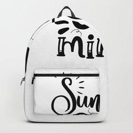 Tote Bag Design Sunshine on My Mind Beach Bag Backpack