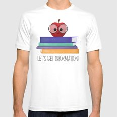 Let's Get Information! MEDIUM Mens Fitted Tee White