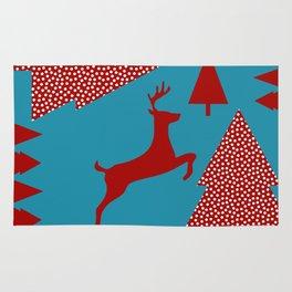 Reindeer blue Rug