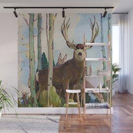 """""""Mule Deer Buck and Doe"""" by W Herbert Dunton Wall Mural"""