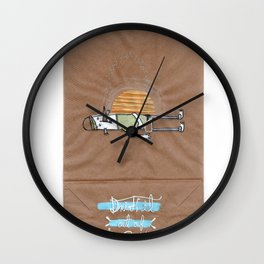 Drink it out of the bottle Wall Clock